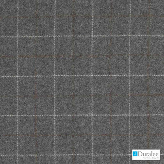 Duralee - Dw61169-79 - Charcoal | Upholstery Fabric - Fire Retardant, Grey, Traditional, Dry Clean, Check, Plaid, Fibre Blend, Standard Width