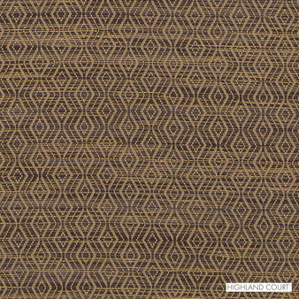 Highland Court - Hu16241-194 - Concourse - Toffee   Upholstery Fabric - Fire Retardant, Brown, Diamond, Harlequin, Ikat, Mediterranean, Dry Clean