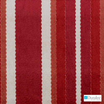 Duralee - Sv16130-685 - Red/Clay | Upholstery Fabric - Fire Retardant, Red, Stripe, Traditional, Dry Clean, Velvets, Backing, Standard Width