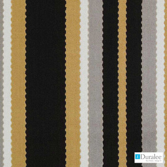 Duralee - Sv16130-711 - Black/Gold | Upholstery Fabric - Fire Retardant, Gold, Yellow, Stripe, Traditional, Dry Clean, Velvets, Backing