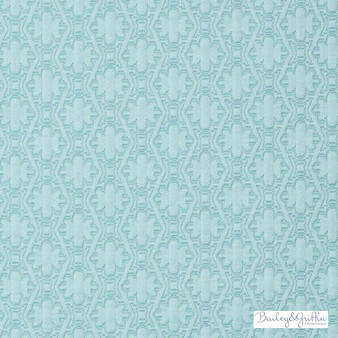Bailey Griffin - 190240H-246 - Paloma Matelasse - Aegean  | Upholstery Fabric - Fire Retardant, Turquoise, Teal, Dry Clean, Geometric, Natural