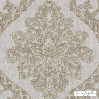 Bailey Griffin - Ba61239-194 - Tangiers - Toffee  | Curtain Fabric - Fire Retardant, Linen/Linen Look, Brown, Tan, Taupe, Mediterranean, Dry Clean