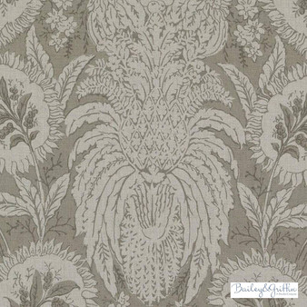 Bailey Griffin - Be42587-194 - Ricasoli - Toffee  | Cushion Fabric - Linen/Linen Look, Tan, Taupe, Floral, Garden, Botantical, Dry Clean, Natural