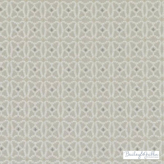 Bailey Griffin - Bu15836-118 - Ibiza - Linen  | Upholstery Fabric - Fire Retardant, Grey, Mediterranean, Dry Clean, Geometric, Dots, Spots, Diaper
