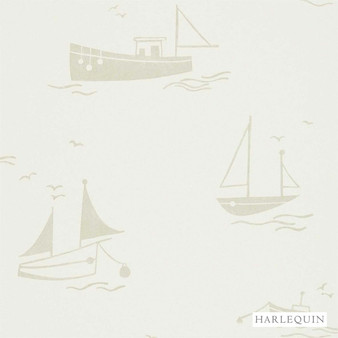 Harlequin Sail Away 110530  | Wallpaper, Wallcovering - White, Beach, Harlequin, Kids, Children, Commercial Use, Domestic Use, Print, White, Nautical