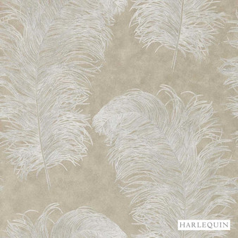 Harlequin Operetta 111236  | Wallpaper, Wallcovering - Beige, Harlequin, Transitional, Animals, Animals - Fauna, Domestic Use, Feathers