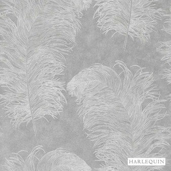 Harlequin Operetta 111237  | Wallpaper, Wallcovering - Grey, Harlequin, Transitional, Animals, Animals - Fauna, Domestic Use, Feathers