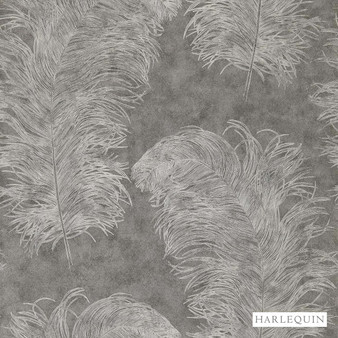 Harlequin Operetta 111238  | Wallpaper, Wallcovering - Grey, Harlequin, Transitional, Animals, Animals - Fauna, Domestic Use, Feathers