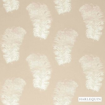 Harlequin Operetta 120442  | Curtain Fabric - Beige, Harlequin, Natural Fibre, Transitional, Animals, Animals - Fauna, Domestic Use, Natural, Standard Width, Feathers