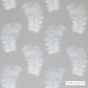 Harlequin Operetta 120443  | Curtain Fabric - Grey, Harlequin, Natural Fibre, Transitional, Animals, Animals - Fauna, Domestic Use, Natural, Standard Width, Feathers