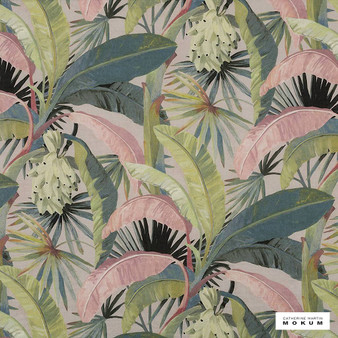 Catherine Martin By Mokum - La Palma - Hollywood - 12592-152  | Curtain Fabric - Pink, Purple, Floral, Garden, Botantical, Wide-Width, Decorative