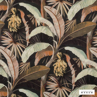 Catherine Martin By Mokum - La Palma - Sepia - 12592-894  | Curtain Fabric - Black, Charcoal, Brown, Floral, Garden, Botantical, Wide-Width, Natural