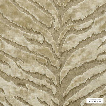 Catherine Martin By Mokum - Bengal Tiger - Snow - 12573-801  | Upholstery Fabric - Gold, Yellow, Natural, Pattern, Vermicular, Organic, Natural Fibre