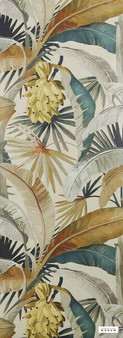 Catherine Martin By Mokum - La Palma Wallpaper - Gilver - 12587-321  | Wallpaper, Wallcovering - Gold, Yellow, Floral, Garden, Botantical, Tropical