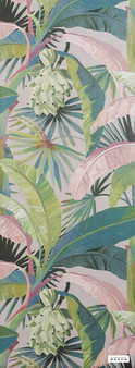 Catherine Martin By Mokum - La Palma Wallpaper - Hollywood - 12587-152  | Wallpaper, Wallcovering - Pink, Purple, Floral, Garden, Botantical, Tropical
