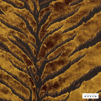 Catherine Martin By Mokum - Bengal Tiger - Gold - 12573-211  | Upholstery Fabric - Gold, Yellow, Acoustic Properties, Natural, Pattern, Vermicular