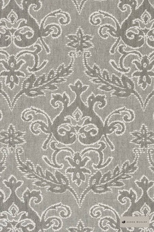 James Dunlop - Notting Hill - Dove - 12549-105  | Curtain Fabric - Tan, Taupe, Traditional, Damask, Decorative, Natural, Rococo, Natural Fibre