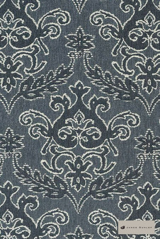 James Dunlop - Notting Hill - Fountain - 12549-106  | Curtain Fabric - Black, Charcoal, Traditional, Damask, Decorative, Natural, Rococo