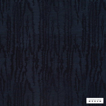 Catherine Martin By Mokum - Trianon - Midnight - 12511-514    Curtain & Upholstery fabric - Black, Charcoal, Blue, Wide-Width, Pattern, Vermicular