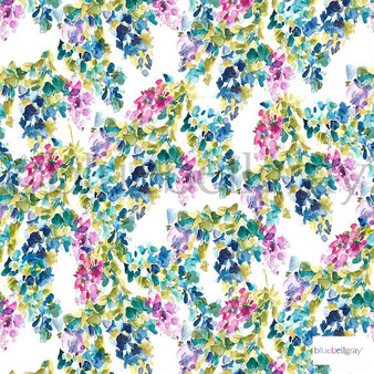 Bluebellgray - Catrin - Holly - 57226-101  | Curtain & Upholstery fabric - Blue, Contemporary, Floral, Garden, Botantical, Natural, Natural Fibre