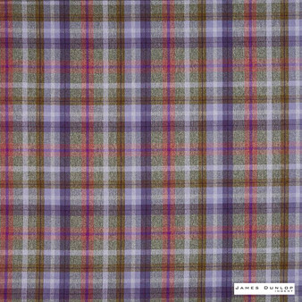 James Dunlop Indent - Sutherland - Heather - 13279-106 | Curtain & Upholstery fabric - Fire Retardant, Pink, Purple, Traditional, Check, Plaid