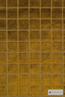 James Dunlop - Caxton - Amber - 12402-103  | Upholstery Fabric - Gold, Yellow, Geometric, Check, Pattern, Standard Width