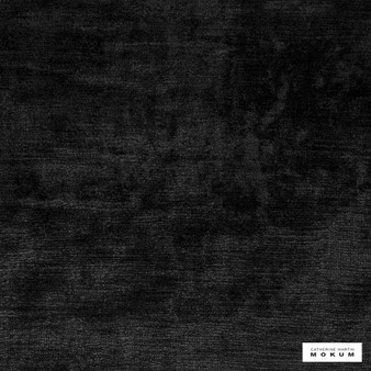 Catherine Martin By Mokum - Bespoke - Marcasite - 12395-897  | Curtain & Upholstery fabric - Black, Charcoal, Velvets, Natural, Plain, Natural Fibre