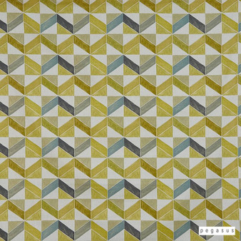 Pegasus - Flagstone - Eau De Nil - 30300-103  | Curtain Fabric - Gold, Yellow, Floral, Garden, Botantical, Acoustic Properties, Geometric, Natural