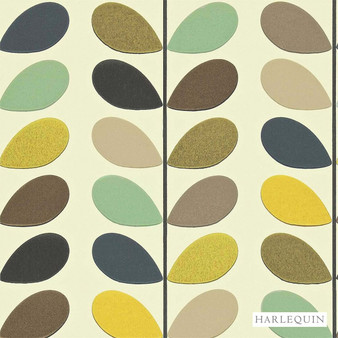 Harlequin Multi Stem 110385  | Wallpaper, Wallcovering - Fire Retardant, Gold, Yellow, Green, Floral, Garden, Botantical