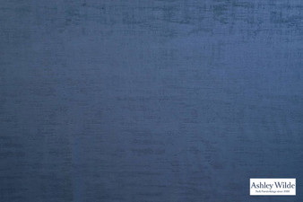 Ashley Wilde - Dakota - Dakota Indigo  | Curtain & Upholstery fabric - Blue, Velvets, Plain, Texture, Standard Width