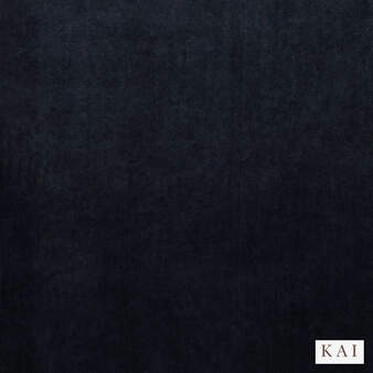 Kai - Letino - Letino Col Navy  | Curtain & Upholstery fabric - Blue, Dry Clean, Velvets, Plain, Standard Width
