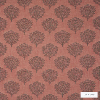 Linwood - Lf1568C_003 Fall  | Curtain & Upholstery fabric - Orange, Floral, Garden, Botantical, Jacquards, Pattern, Foulard, Fibre Blend