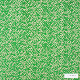 Linwood - Lf1973C_003 Grasshopper    Curtain & Upholstery fabric - Green, Geometric, Abstract, Vermicular, Small Scale, Standard Width