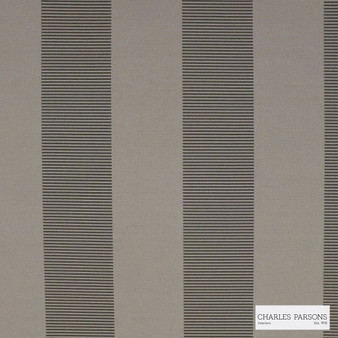 Charles Parsons Interiors - Habitat Pewter 1P | Curtain Fabric - Grey, Jacquards, Stripe, Coated