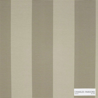 Charles Parsons Interiors - Habitat Pumice | Curtain Fabric - Fire Retardant, Brown, Jacquards, Stripe, Uncoated