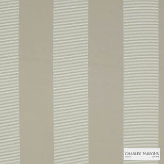 Charles Parsons Interiors - Habitat Putty | Curtain Fabric - Fire Retardant, Grey, Jacquards, Stripe, Uncoated