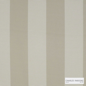 Charles Parsons Interiors - Habitat Putty 1P | Curtain Fabric - Grey, Jacquards, Stripe, Coated