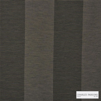 Charles Parsons Interiors - Habitat Tobacco 1P  | Curtain Fabric - Grey, Jacquards, Stripe, Coated