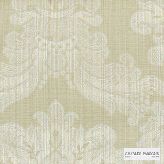 Charles Parsons Interiors - Ashridge Macadamia | Curtain Fabric - Beige, Traditional, Uncoated, Damask