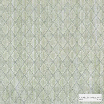 Charles Parsons Interiors - Federation Celadon   Curtain Fabric - Beige, Diamond, Harlequin, Traditional, Uncoated, Geometric