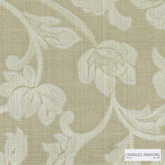 Charles Parsons Interiors - Totteridge Latte | Curtain Fabric - Beige, Floral, Garden, Botantical, Traditional, Uncoated, Damask