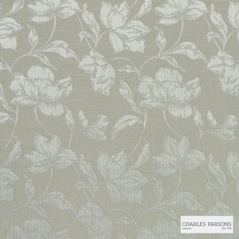 Charles Parsons Interiors - Cromwell Putty | Curtain Fabric - Grey, Floral, Garden, Botantical, Uncoated