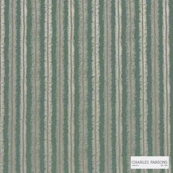 Charles Parsons Interiors - Regents Park Bayleaf  | Curtain Fabric - Green, Stripe, Uncoated