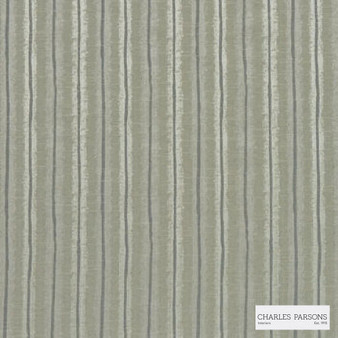 Charles Parsons Interiors - Regents Park Biscotti | Curtain Fabric - Green, Stripe, Uncoated