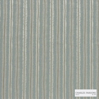 Charles Parsons Interiors - Regents Park Duckegg  | Curtain Fabric - Green, Stripe, Uncoated