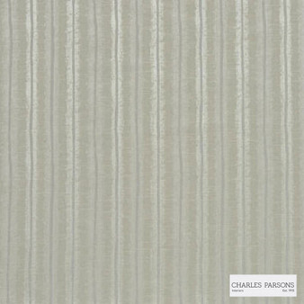 Charles Parsons Interiors - Regents Park Putty  | Curtain Fabric - Grey, Stripe, Uncoated