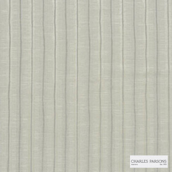 Charles Parsons Interiors - Regents Park White Pepper  | Curtain Fabric - Grey, Stripe, Uncoated