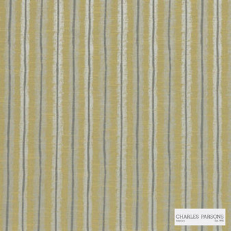 Charles Parsons Interiors - Regents Park Zest | Curtain Fabric - Gold, Yellow, Stripe, Uncoated