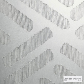 Charles Parsons Interiors - Parquetry Stone | Curtain Sheer Fabric - Grey, Contemporary, Uncoated, Geometric
