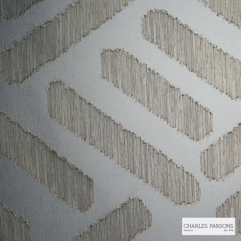 Charles Parsons Interiors - Parquetry Tobacco  | Curtain Sheer Fabric - Grey, Contemporary, Uncoated, Geometric